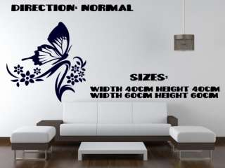 Ƹ̵̡Ӝ̵̨̄Ʒ Butterfly Flower Canvas Wall Decal Art Sticker