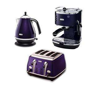 Delonghi icona green kettle and 4 slice toaster