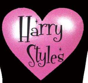 HARRY STYLES BLACK T SHIRT with PINK GLITTER S XXL