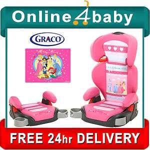 NEW GRACO DISNEY PRINCESS PINK JUNIOR MAXI PLUS BOOSTER SEAT CAR SEAT