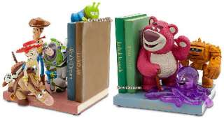 BEAUTIFUL NEW Disney Store Toy Story 3 BOOKENDS Lotso Book Ends for