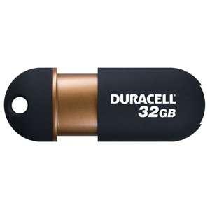 DURACELL CAPLESS USB 2.0 FLASH DRIVE MEMORY STICK 32GB