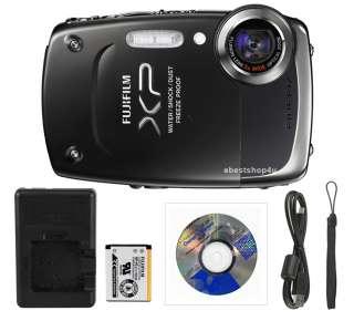 Fuji Finepix XP20 14MP 5 meter Waterproof HD Digital Camera+ 4GB Black