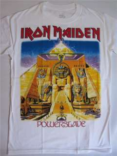 IRON MAIDEN   POWERSLAVE WHITE T SHIRT