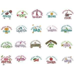 Viking 1+/Rose/Iris Embroidery Card WORLDS GREATEST