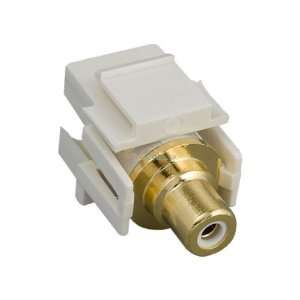 RCA F/F Recessed Keystone Insert Gold Plated Connector