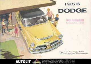 1956 Dodge Mayfair Regent Crusader Brochure Canada