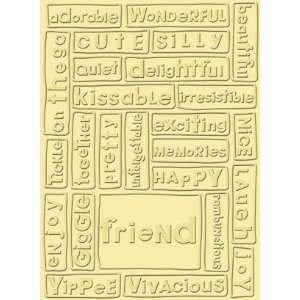 Cuttlebug A2 Embossing Folder, Friend Arts, Crafts