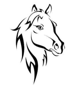 Horses Head Sticker Horsebox Vinyl Decal x 2 Large