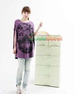 Wholesale Women Skull Print Batwing T Shirt   DinoDirect