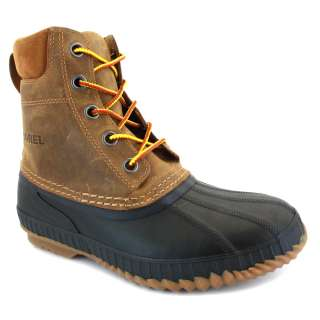 Sorel Cheyanne NM 1704 224 Mens Waterproof Leather Boots Brown Black