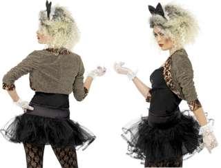 Deluxe Wild Child Madonna 80s Fancy Dress Costume & Wig