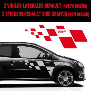 VINYL STICKER RENAULT SIDE GRAFIC FIT TWINGO, MEGANE, CLIO. NEW DESIGN
