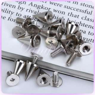 10 Cone Spikes Screwback Spike Studs Punk Gothic Leathercraft Leather