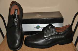 New Mens Black Leather Abbot Casual Laceup Shoes SZ 11