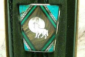 David Yellowhorse Howling Wolf Bolo tie