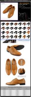 Mens Leather Dress Shoes Handmade Casual Style ps36