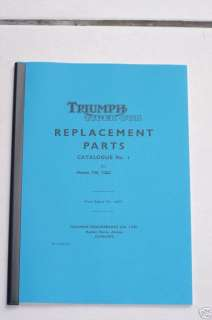 TRIUMPH TIGER CUB T20 T20C PARTS LIST