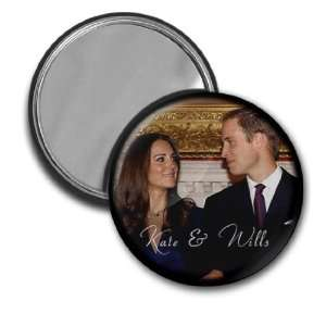 Prince William Kate Middleton Royal Wedding 2.25 inch Glass Pocket