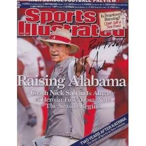 Nick Saban signed autographed Sports Illustrated 8 x 10 photo Alabama