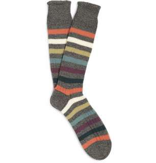 Accessories  Socks  Casual socks  Striped Knitted