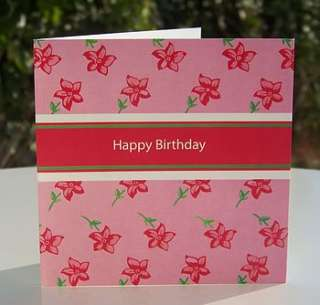 beautiful floral range of Happy Birthday cards, printed on high