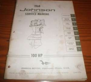 1968 johnson evinrude outboard service manual 100 hp