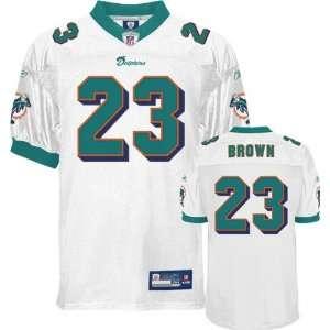 Ronnie Brown Jersey Reebok Authentic White #23 Miami