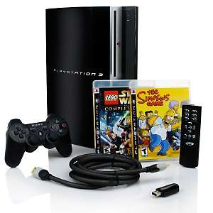 Sony PS3 Bundle with 2 Games, HDMI Cable and Remote at HSN