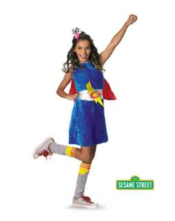 Girls Sesame Street Grover Costume  Girls Cartoon Characters