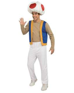 Mens Super Mario Bros Toad Costume  Mens TV and Movie Halloween