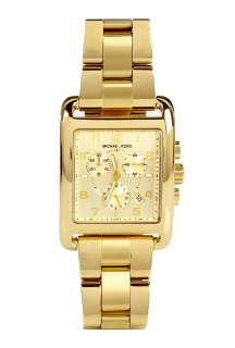 Michael Kors Watches  Square Gold Chronograph Watch by Michael Kors