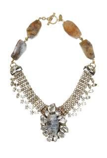 Anton Heunis  Grace Kelly Large Encrusted Bib Necklace by Anton