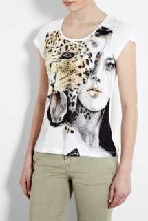 Focus  Gold Catwoman Scoop Neck Cap Sleeve T Shirt by B Focus