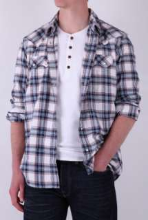 Blue Plaid Check Sawtooth Roots Shirt by Levis   Blue   Buy Shirts