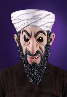 Adult Osama Bin Laden Mask   Hiding out plotting evil for Al Qaeda