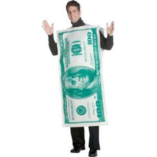 Adult 100 Dollar Bill Costume   Funny Halloween Costumes   15GC6114