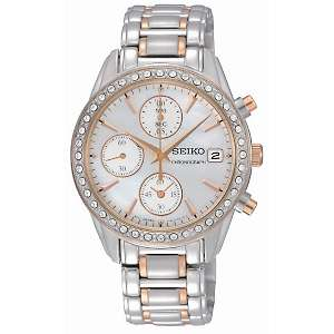 Seiko Womens Two Tone Chronograph Watch with Swarovski Elements® and