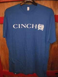 Mens CINCH Blue Tee Shirt