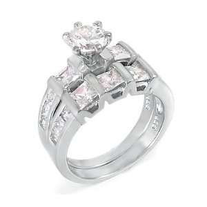 and Top Quality, High Grade Cubic Zirconia, Ring Size   (5) Jewelry