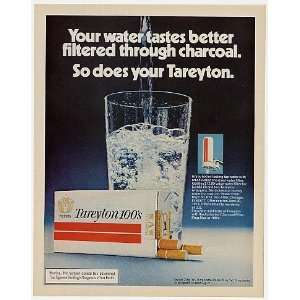 1972 Charcoal Water Filter Tareyton 100s Cigarette Print