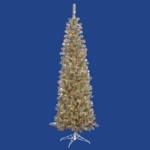 Vickerman B103466 78 Artificial Pencil Christmas Tree in Champagne