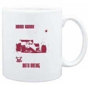 Mug White  HARD WORK Auto Racing  Sports Sports & Outdoors