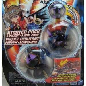 Bakugan Starter Pack ~ Black ~ Mystery Marble, Dragonoid