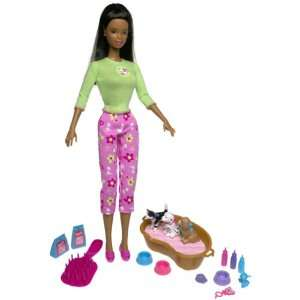 Barbie AFRICAN AMERICAN Kennel Care DOLL SET Toys & Games