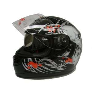 Full Face Motorcycle Street Sport Bike Helmet DOT (Small) Automotive