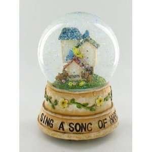 Bird House Snow Globe Glitter Musical Water Ball