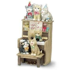 Happy Birthday Musical Kitty Figurine by San Francisco
