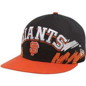 New Era San Francisco Giants Black Orange Side Snapback