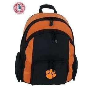 Mercury Luggage Clemson Tigers Large Black & Orange Ripstop Backpack